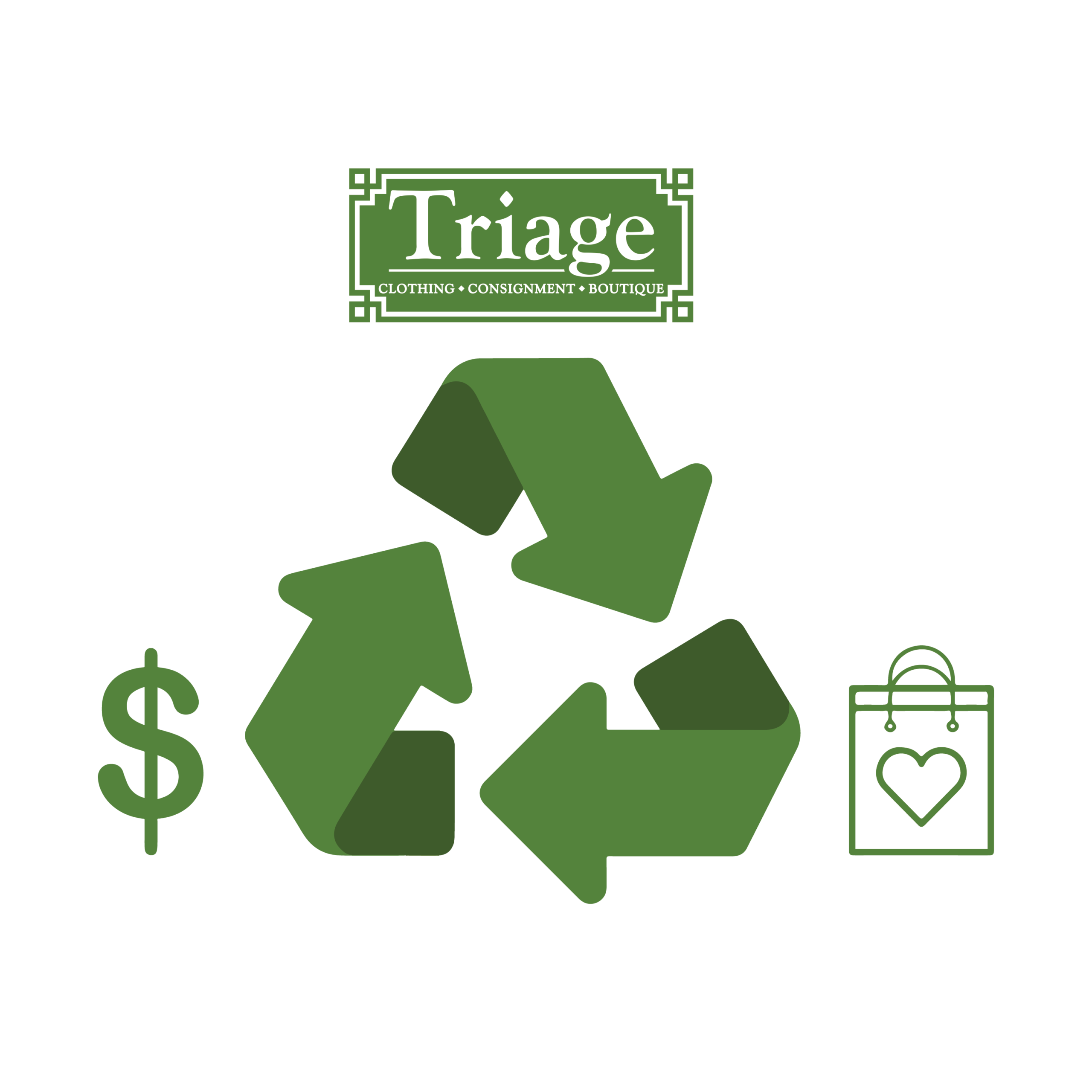 Triage Consignment Boutique recycling Info Graphic